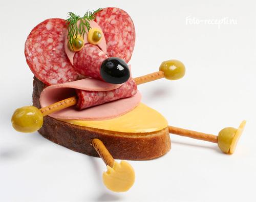 Мишка Бутерброди для дитячого свята і сніданку дітей