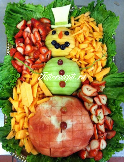 """Салат """"Снеговик"""" с авокадо – кулинарный рецепт"""