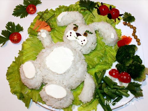 Украшение блюд для детского праздника