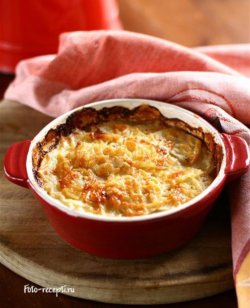 картофельная запеканка с фаршем и сыром пошаговый рецепт