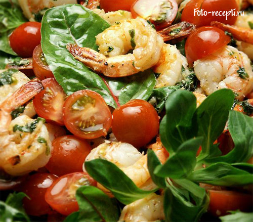 Салат из креветок рецепты пошаговый