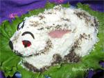 Салат детский в виде кролика