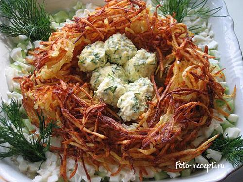 рецепты салатов морепродуктов новый год