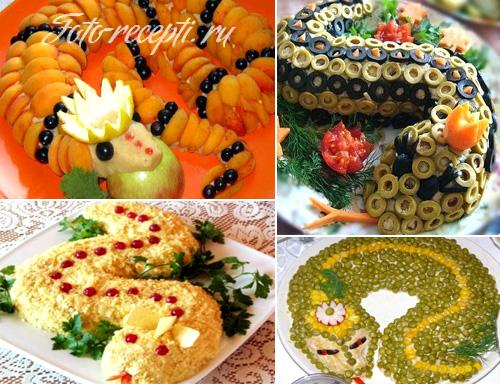 Какие салаты приготовить на новый год 2013