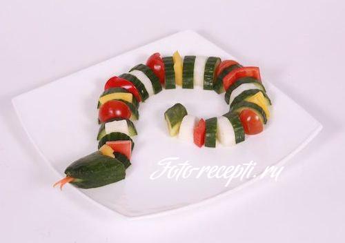 Что приготовить на Новый год 2013 в виде змеи
